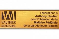 Plaquette-distinction